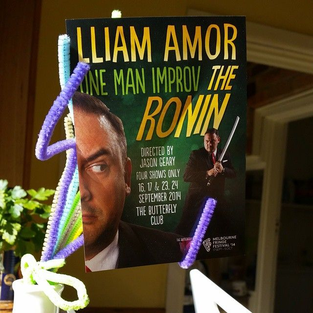 """@lliamamor's photo: """"Spring Ronin! Two shows left - Tuesday 23rd & Wednesday 24th, 9.30pm @butterflyclubmelb #mfringe"""""""
