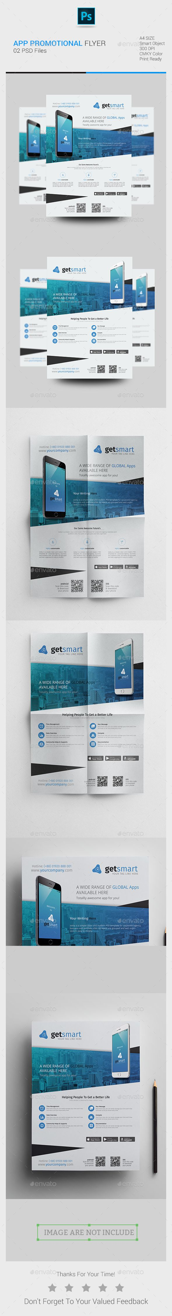 #Mobile #App Promotional #Flyer - Corporate Flyers Download here: https://graphicriver.net/item/mobile-app-promotional-flyer/19247873?ref=alena994