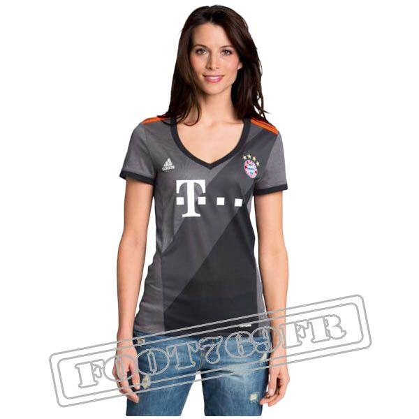Promo Maillot Du Bayern Munich Femme 16/17 Exterieur Gris | Foot769Fr