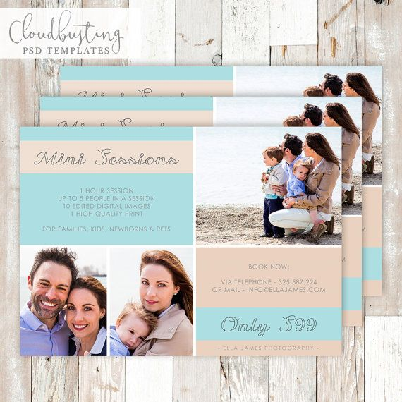 Photography Mini Session Card - Customizable Photoshop Template - https://www.etsy.com/listing/285371175