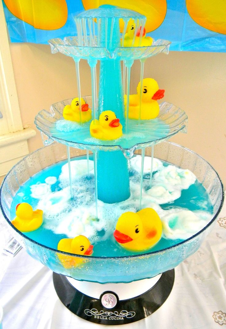 Rubber Duck Baby Shower Theme. Baby Bath Punch ~ The Punch Was Yummy Too!  Summary: Adorable Ducky Bath Punch