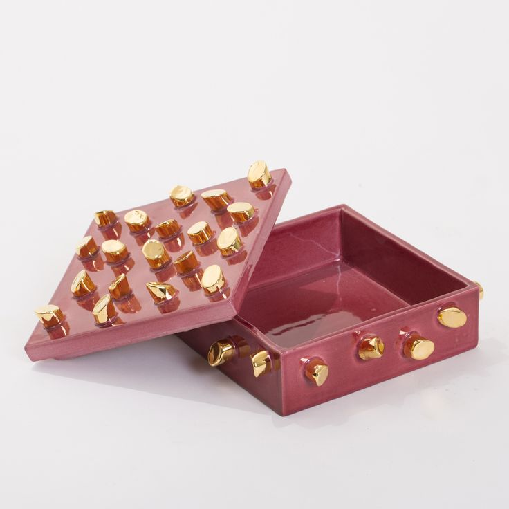Pink Maiolica Box - Decorative Art - Home Décor and Interior Design ideas from Italy's finest artisans - Artemest