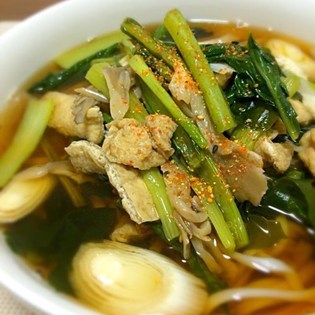 使いまわしですが、、、 - 35件のもぐもぐ - 小松菜と油揚げと舞茸うどん by Koichi GOGO