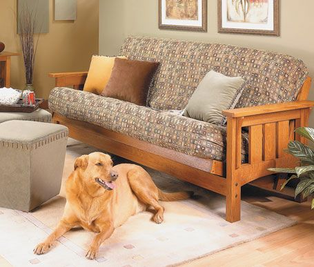 The heavy-duty hardware, solid-wood construction, and Craftsman-style features make this futon a pleasure to build.