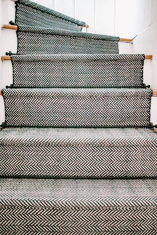 How To Install A Stair Runner With Rods 6 Easy Steps Stair Runner Stair Runner Carpet Staircase Makeover