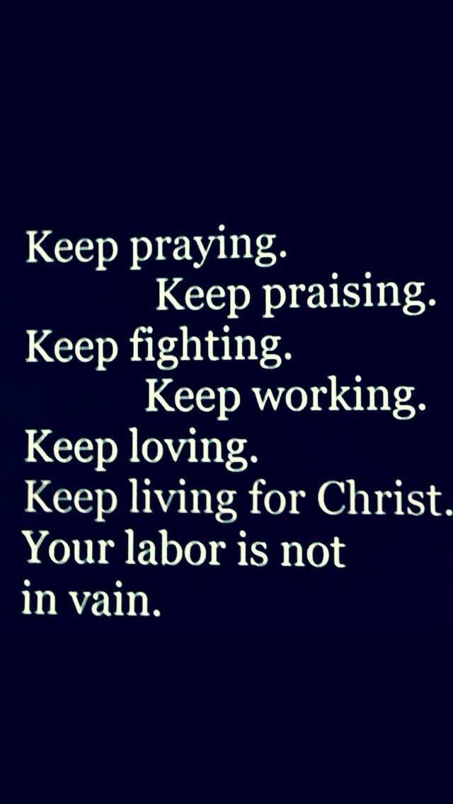Keep Living For Christ.