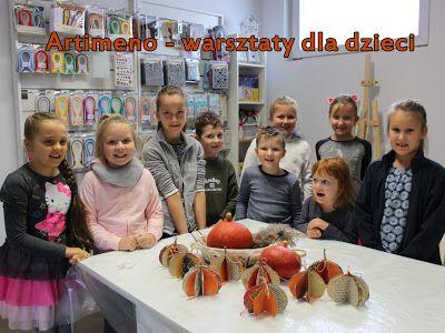 Warsztaty kreatywne dla dzieci - jesienne dynie.