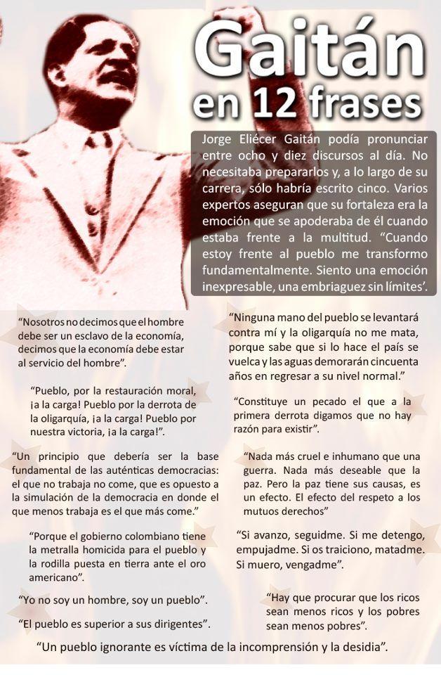 Gaitán, en 12 frases. #Historia #Frases #Quotes #Gobierno #Colombia