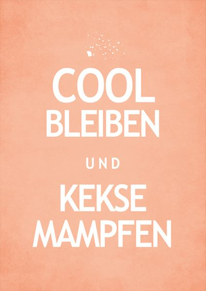Cool bleiben und Kekse mampfen // Stay cool ... eat biscuits. #Bahlsen #Cookies #LifeIsSweet