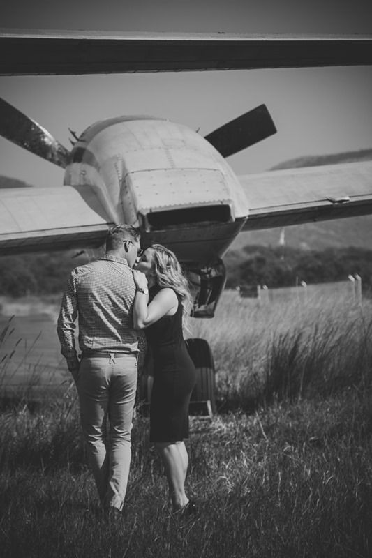Couple at airport Wonder boom there engagement Photo shoot Photographer Daniel L Meyer by L'Afrique Photography