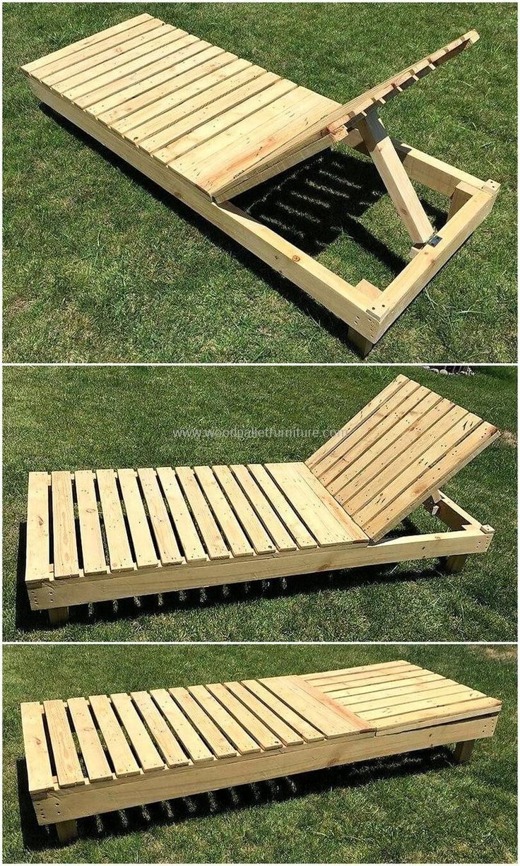 Below we are going to present a simple but classic rehashed wood pallet sun lounger for our recreational healthy activity. The good thing about our projects is that we don't make it complex so that you could craft it at your own workshop with ease and comfort. This wonderful wood pallet sun lounger serves you the right purpose. #WoodworkingProjectsThatMakeMoney