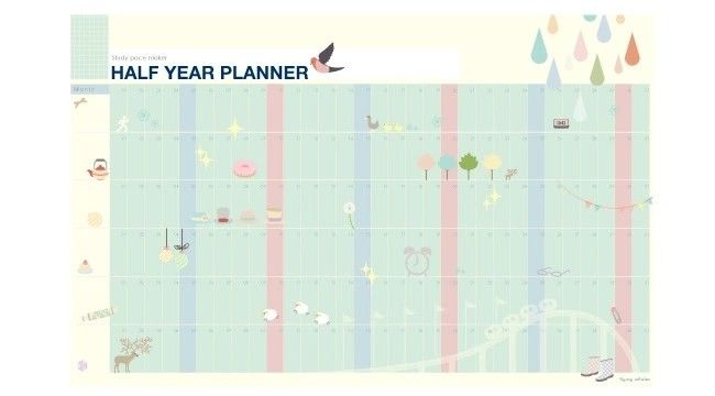 Hang Half A Year Single sheet with 6 months planner. You fill in the months so it's current Size: 12 5/8″...   The post  Cute Planner Half Year Sheet With Cheery Graphics  appeared first on  Sweet Notebooks .    https://www.sweetnotebooks.com/cute-planner-half-sheet-cheery-graphics/   #planneraddict