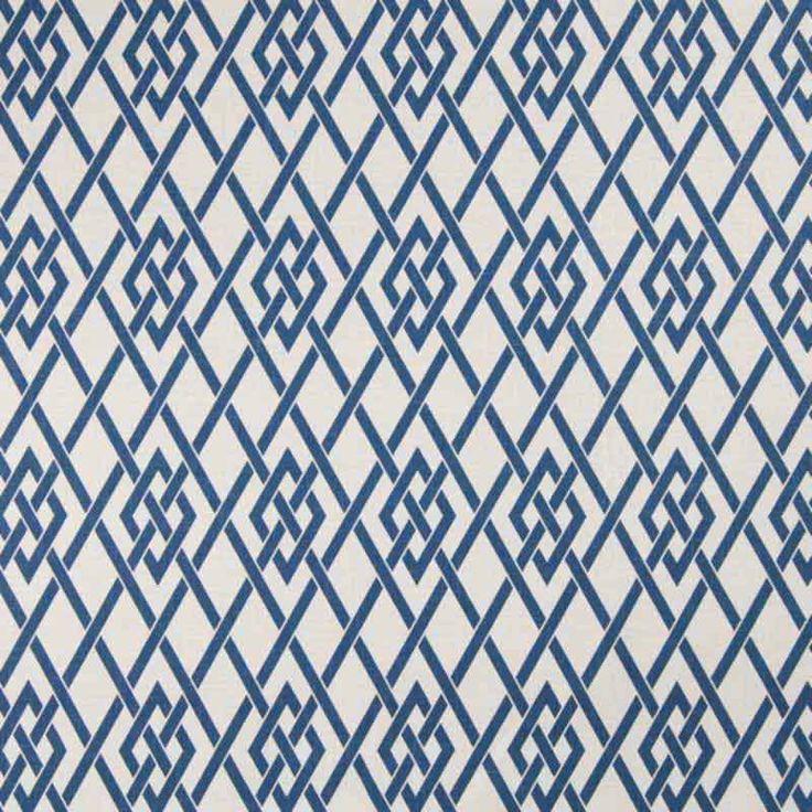 Warwick Fabrics : AKIRA, Colour COBALT