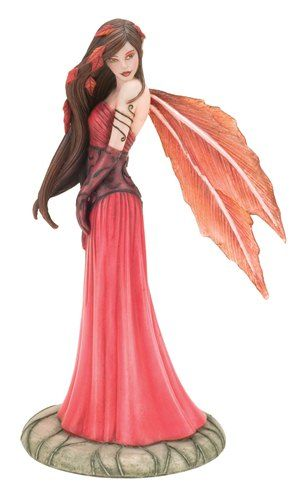 ~I have this figurine in my personal collection~MK~Jessica Galbreth *Autumn Grandeur* Fairy Figurine