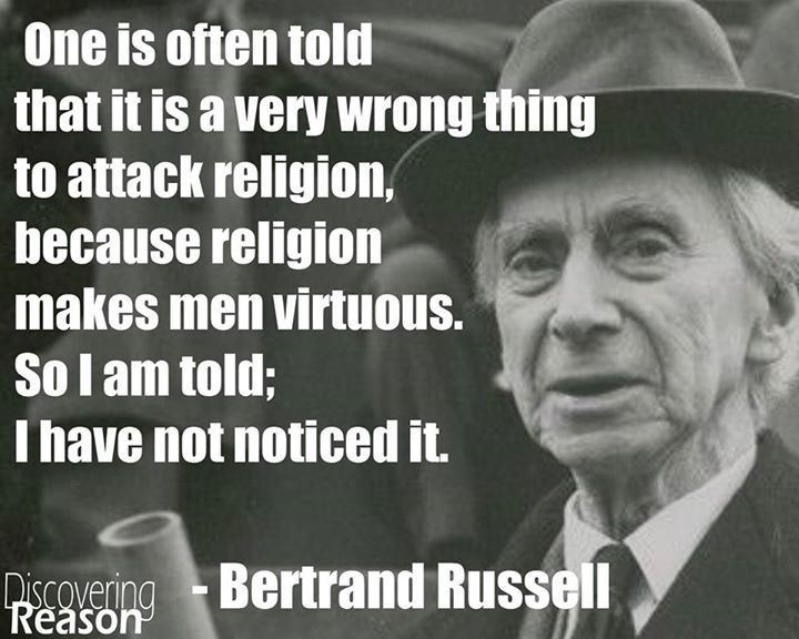 Image result for bertrand russell on religion