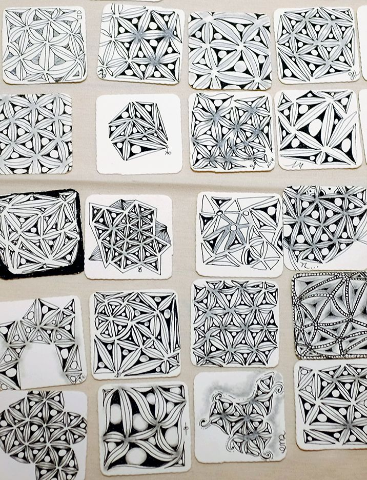 1571 best images about zentangle obsessive on pinterest for Zentangle tile template