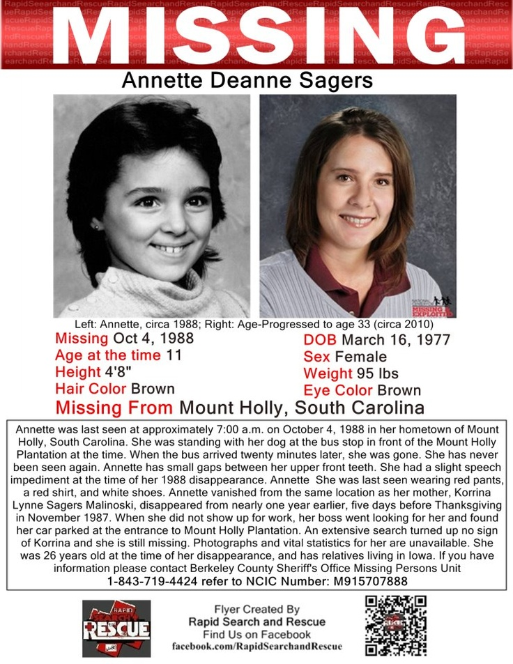 """Current Missing in the US To assist with Amber Alerts and missing person cases through flyer and picture sharing on Facebook please """"Like"""" Rapid Search and Rescue on Facebook: facebook.com/RapidsSAR Follow us on twitter also @Rapid_SAR"""