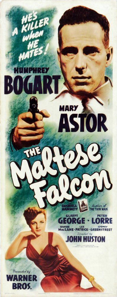 Humphrey Bogart and Mary Astor in The Maltese Falcon (1941)