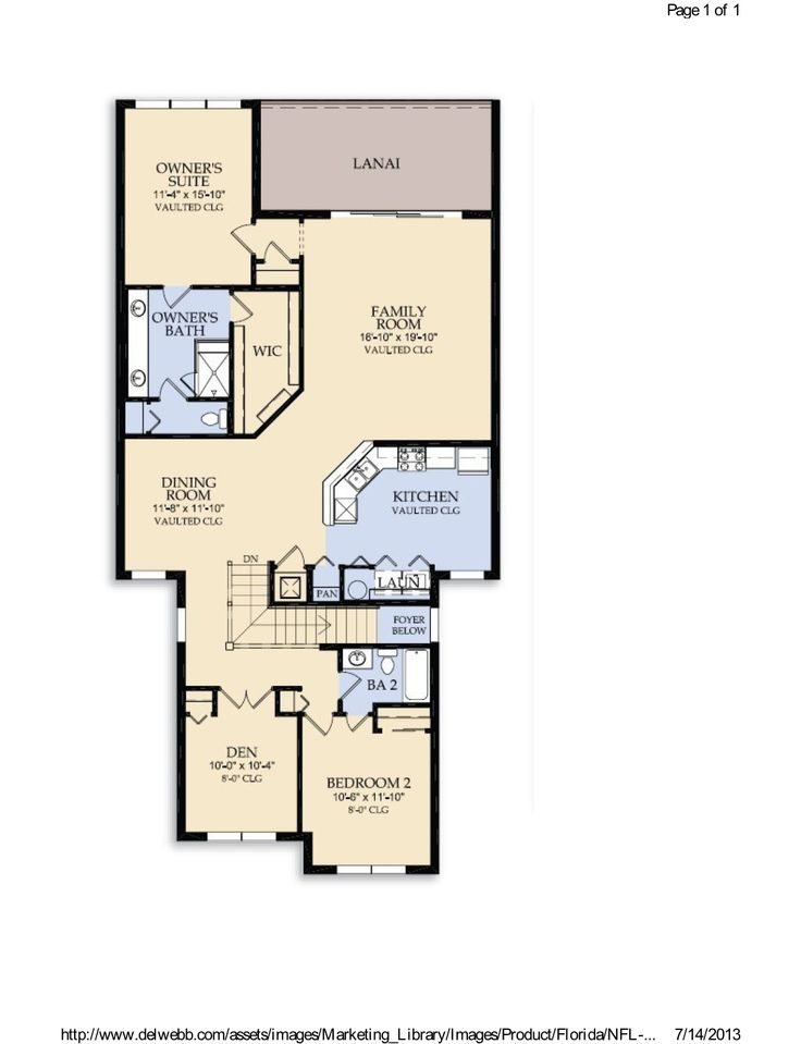 Bella Trae Cormorant Floor Plan In Champions Gate Fl