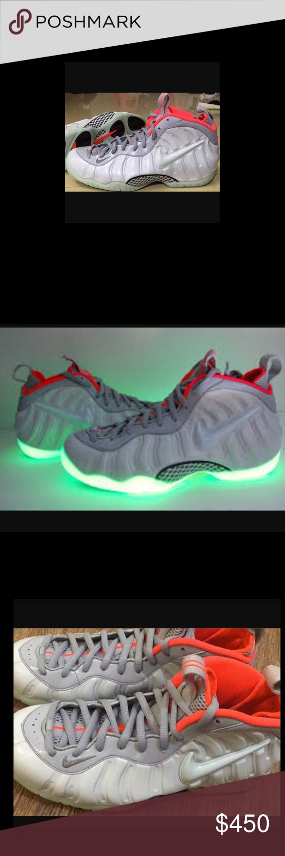 Jordan eclipse and yeezy foamposite Brand barely worn and they glow in the dark Nike Shoes Athletic Shoes