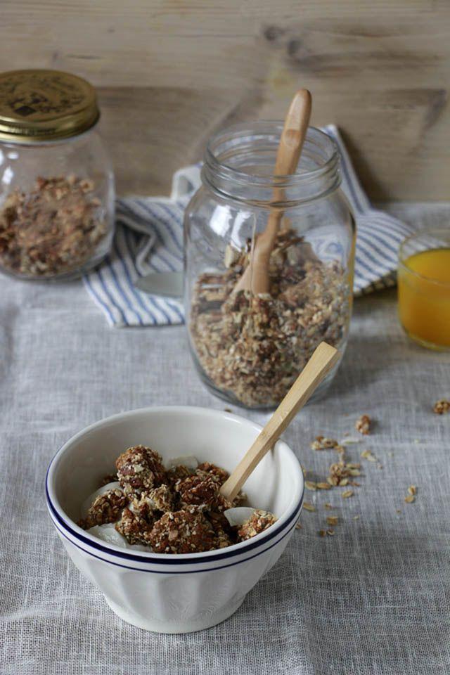 Knapperige granola met noten
