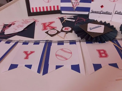Baseball themed party package. great for adults & children. includes everything you would need for a fabulously chic party!! At an affordable price too!
