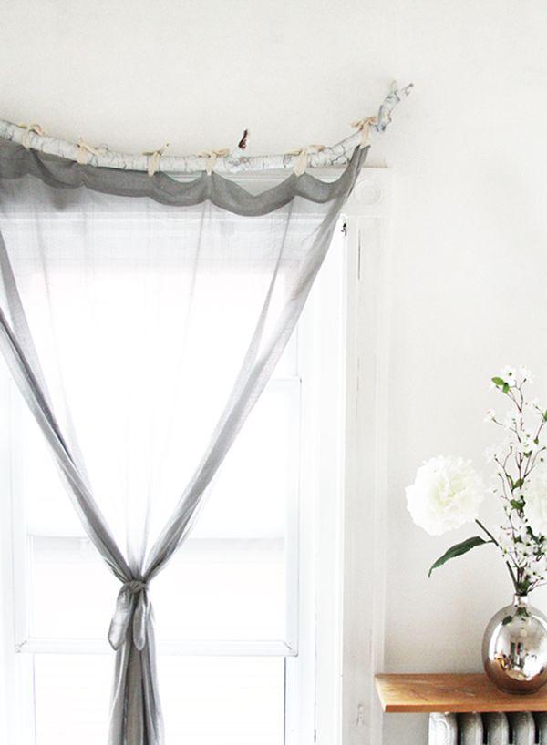 How To Make Diy Curtain Rods Cortinas De Bricolaje Barras De