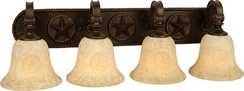 The Western Round Up 4 Light Vanity Fixture Rustic Lighting Pinterest The O Jays The