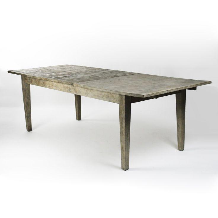 Zentique T003 E272 Grasse Oak Dining Table, Limed Grey - Home Furniture Showroom