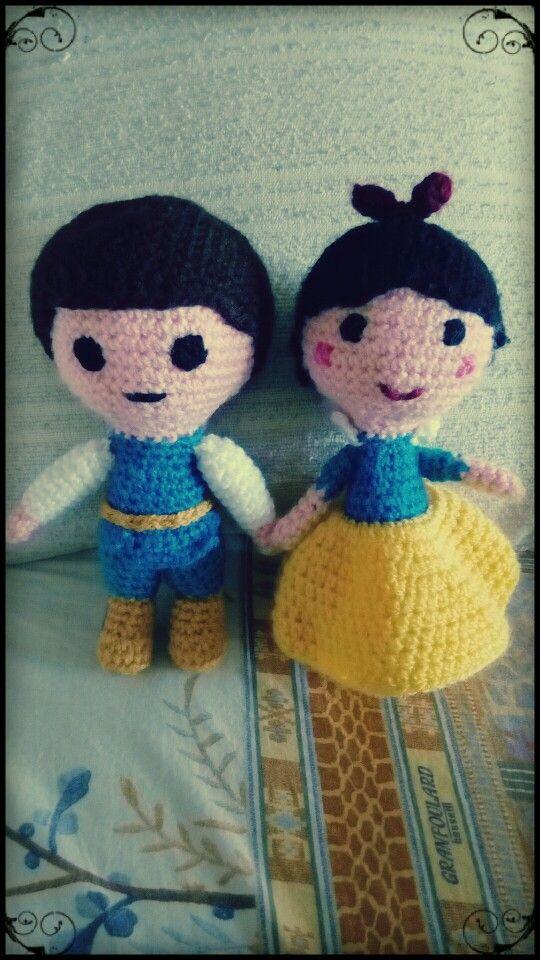 #Blancanieves #Príncipe #SnowWhite #Prince #crochet #ganchillo