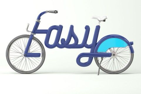 Visual for Transport London Visual by Alex Trochut. Blue bicycle-Lasy.