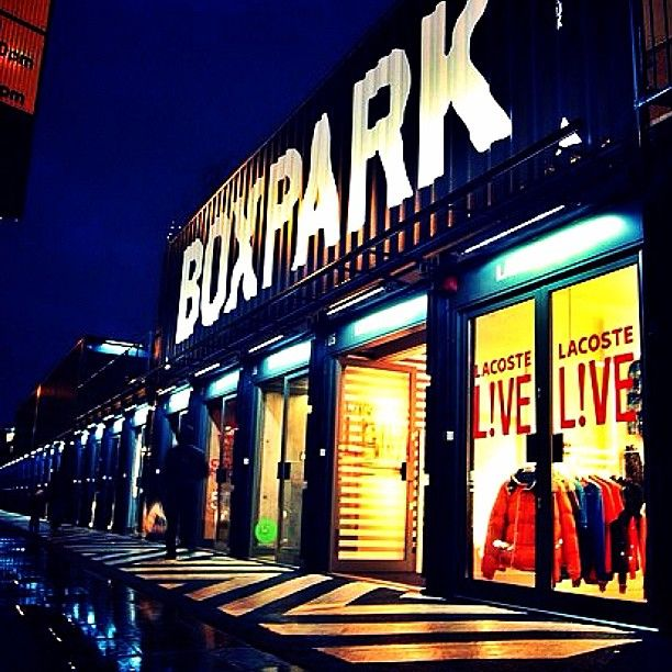 LONDON, UK: BOXPARK. A modern take on the city shopping centre with pop-up stores and entertainment in the gateway to the east of London. Fashion, design, culture and food.
