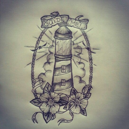 Lighthouse tattoo sketch by ranz pinterest for Light house designs
