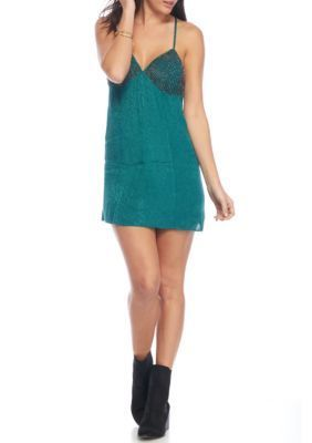 Free People Green Shooting Star Slip