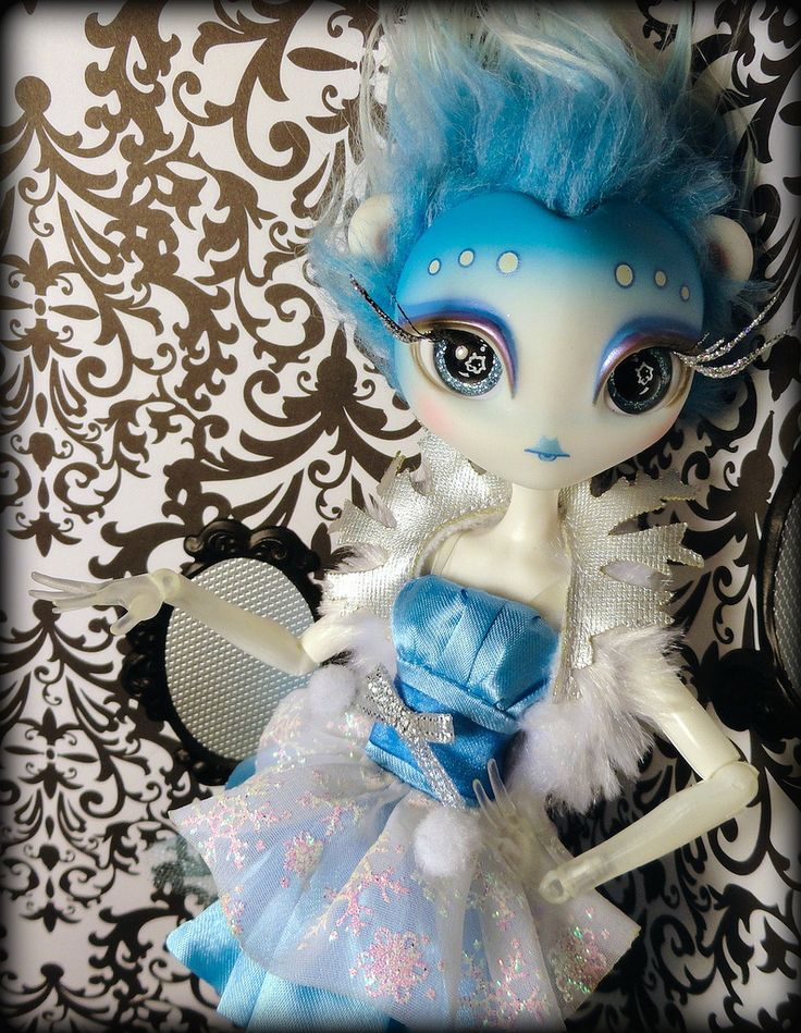 https://flic.kr/p/myY2KV | Novi Stars Hybrid Ice Bear 2 |  The only Novi Stars/Monster High hybrid I've cared to make. She is such a beautiful ice bear alien goddess. She is on a Picture Day Spectra body, it has a few paint scratches, but I'll find a creative way to jazz those up and hide them.  She is wearing the dress from the LaDeeDa fairytale Ice Queen doll I picked up on clearance for 5 bucks. Shoes are from ABSPlastic on Etsy.  I'm really excited to start making some glorious outfits…