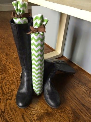 RTS Presents: DIY No Sew Boot Trees/ Stands w/ Pool Noodle, Fabric, Hot Glue Gun.