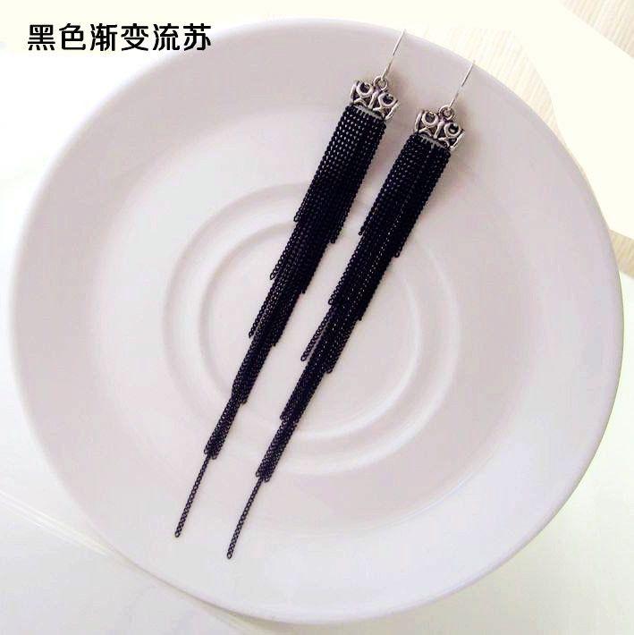 DIY аксессуары ювелирные изделия оптом Корейский высокого класса медные цепи кисточкой серьги раздела золотое ожерелье кисточкой с цепи - Taobao
