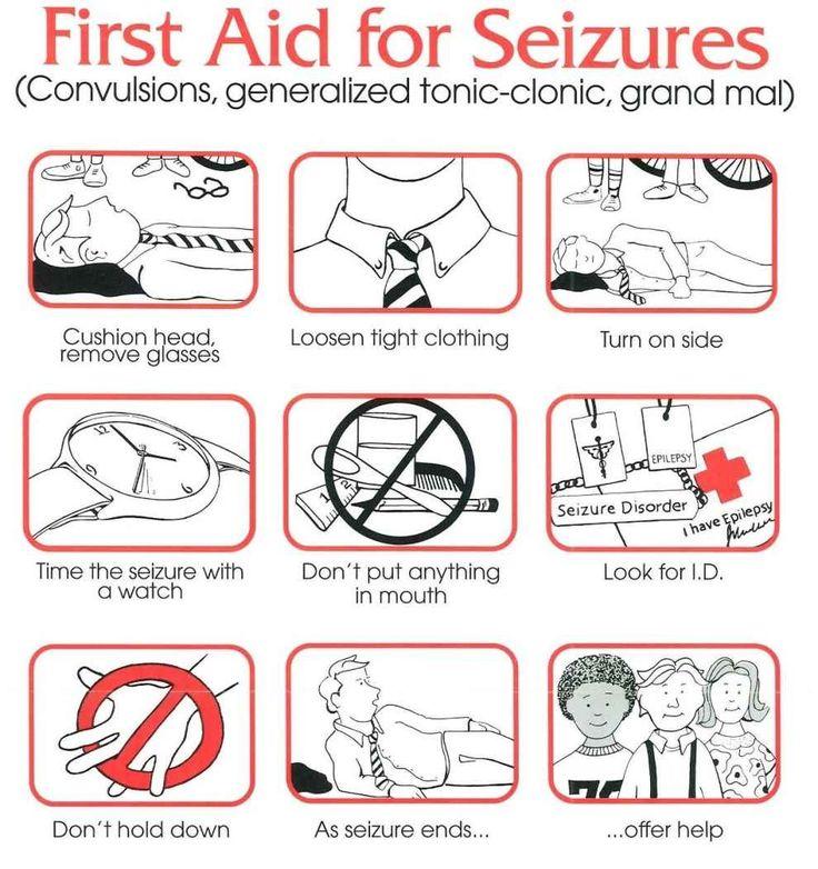 Cuando alguien esté teniendo un ataque convulsivo, mantenlo seguro, apoyado y de costado.