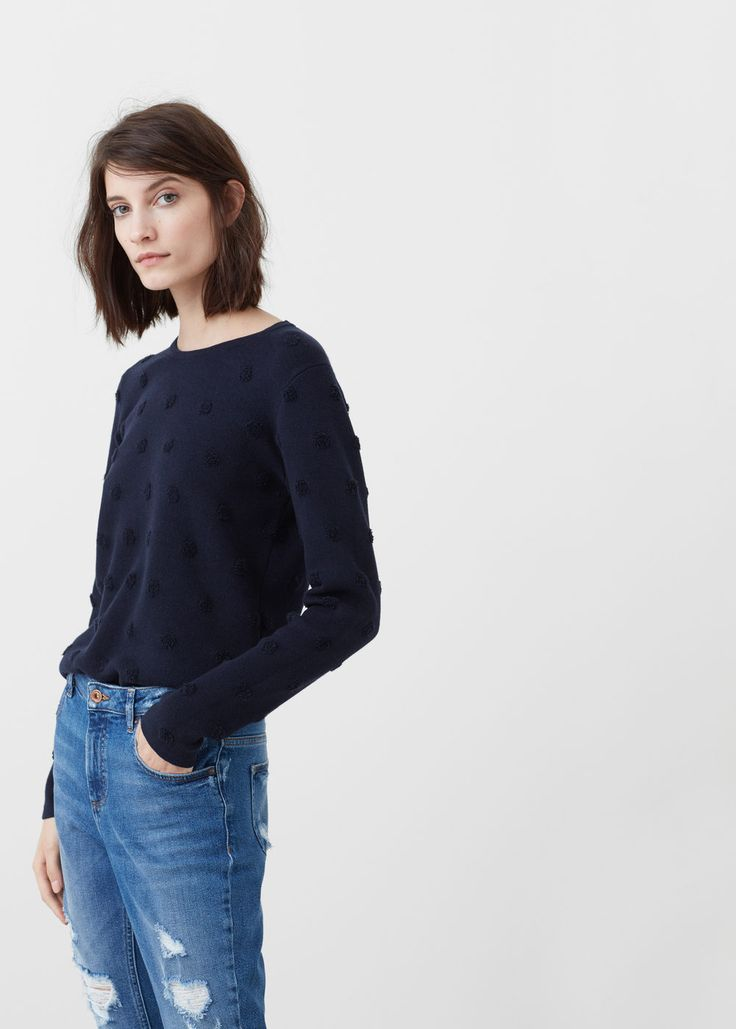 Pull-over à pois relief | MANGO
