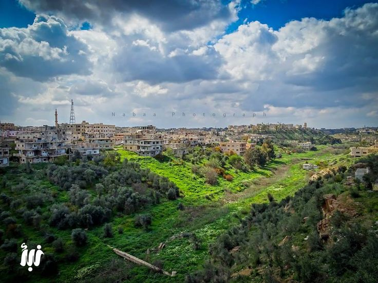 مشهد لوادي الزيدي الذي يفصل بين درعا البلد ودرعا المحطة. #سوريا #درعا #Syria #Daraa