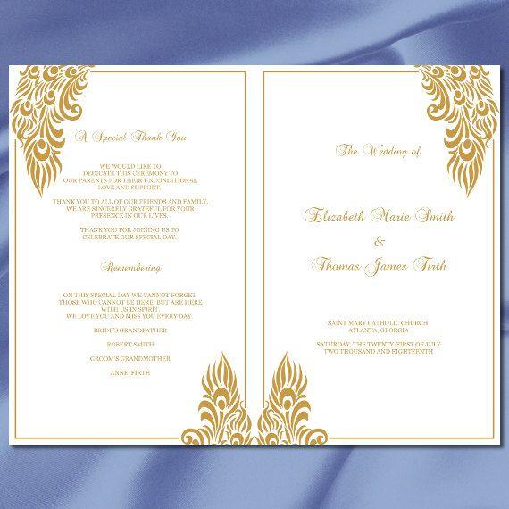 36 best Wedding Program Ideas images on Pinterest Computers and - wedding brochure template