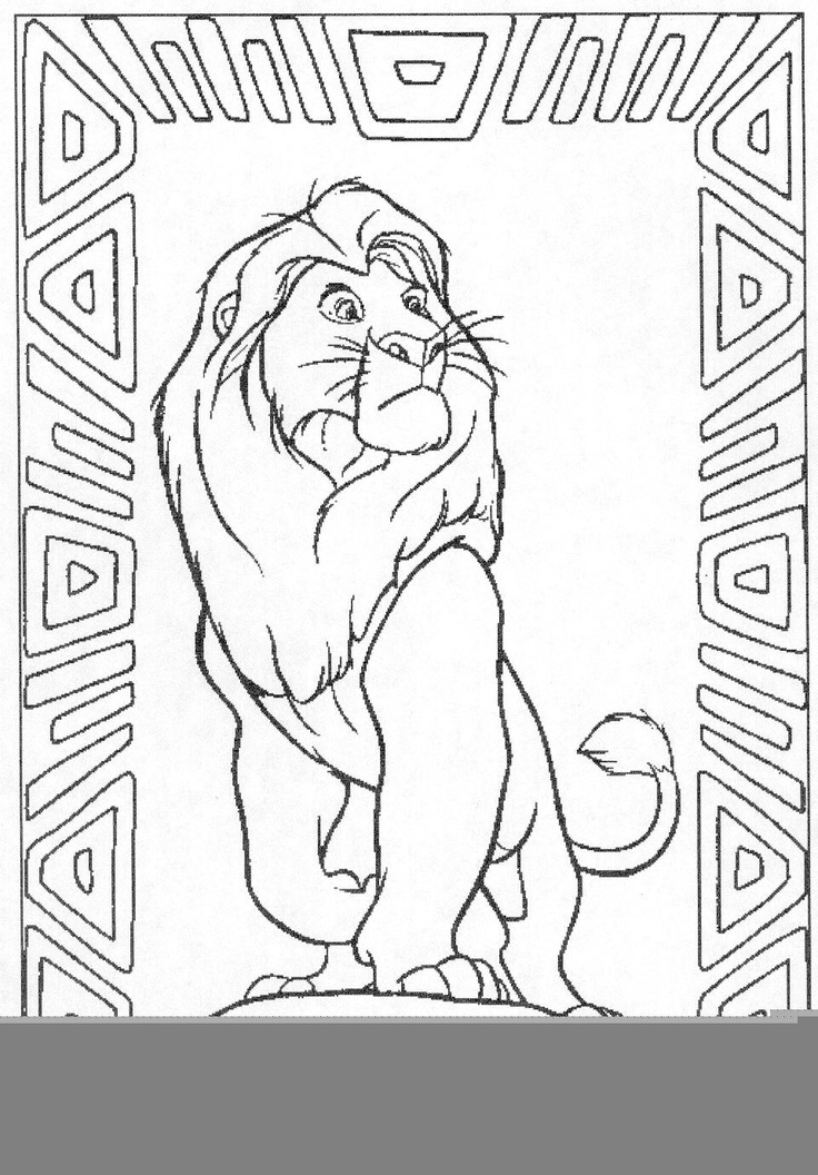 Mufasa Lion King 2 Coloring Pages DisneyLionPrintable Coloring