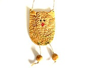 This is so cute! Ceramic Grandpa Owl Ornament