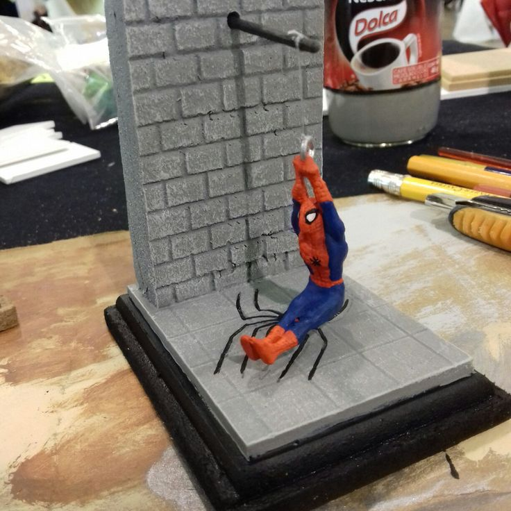 Finished a quick diorama to go with this little spiderman figure. (Not my figure). Very happy client.