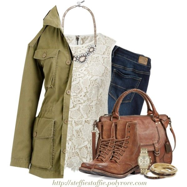 """""""Lace & Combat boots"""" by steffiestaffie on Polyvore"""