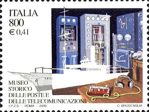 """2000 - """"I tesori dei musei e degli archivi nazionali"""": Museo storico delle poste e telecomunicazioni - Apparati radio usati da Marconi"""
