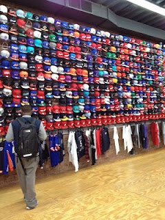 Hats in Flight Club NYC.