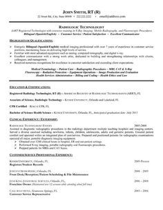 Click Here to Download this Radiologic Technologist Resume Template! http://www.resumetemplates101.com/Healthcare-resume-templates/Template-198/