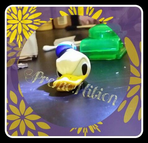 Portachiavi Paperino / Donald Duck Keyring Fimo Poly Clay