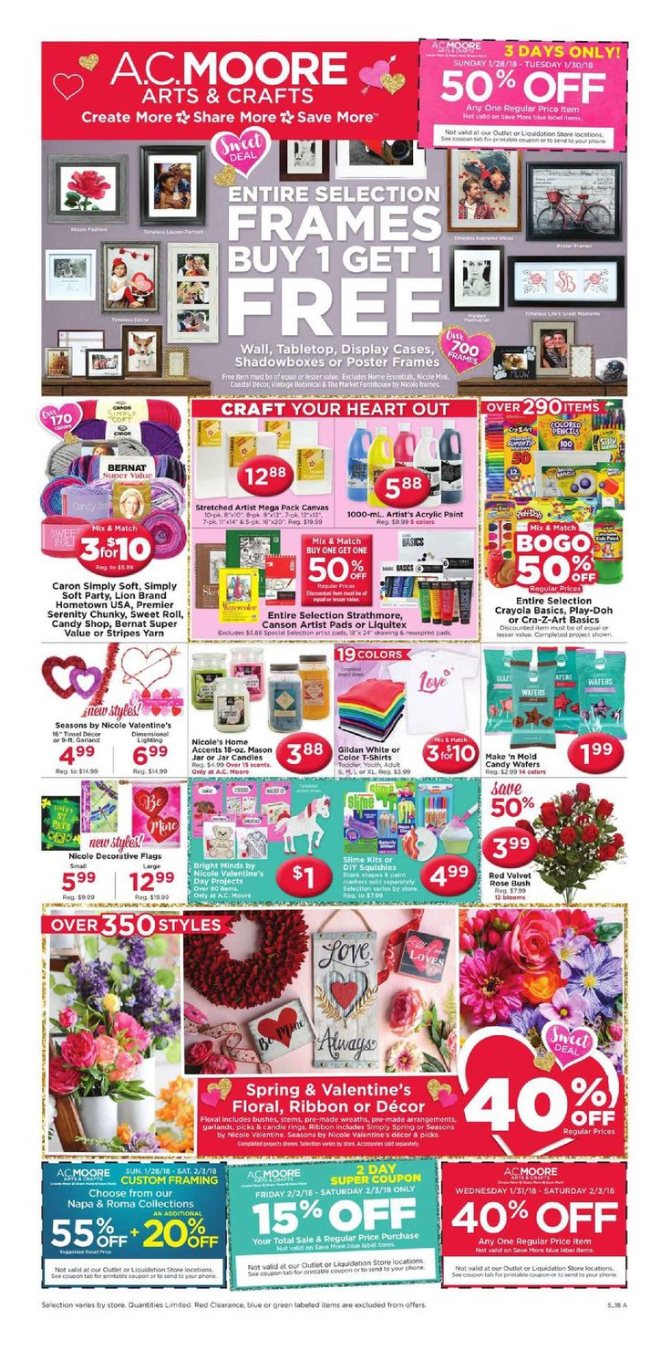 AC Moore Weekly Ad January 28 - February 3, 2018 - http://www.olcatalog.com/home-garden/ac-moore-weekly-ad.html